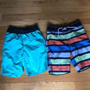Other - Two pairs lightly used boys swim trunks. Sz 5-6